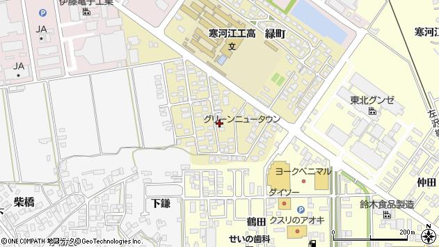 山形県寒河江市緑町92周辺の地図