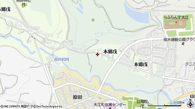 山形県西村山郡大江町本郷戊27周辺の地図