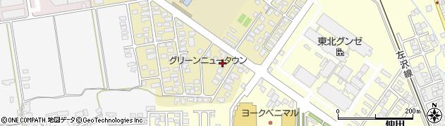 山形県寒河江市緑町118周辺の地図