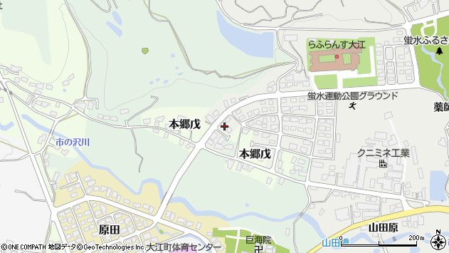 山形県西村山郡大江町左沢3001周辺の地図