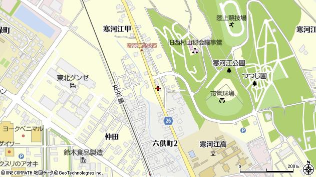 山形県寒河江市寒河江乙1196周辺の地図