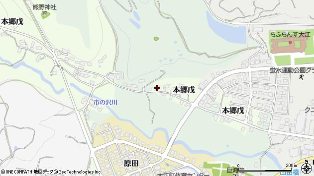 山形県西村山郡大江町本郷戊29周辺の地図