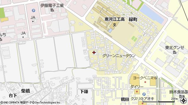 山形県寒河江市緑町54周辺の地図