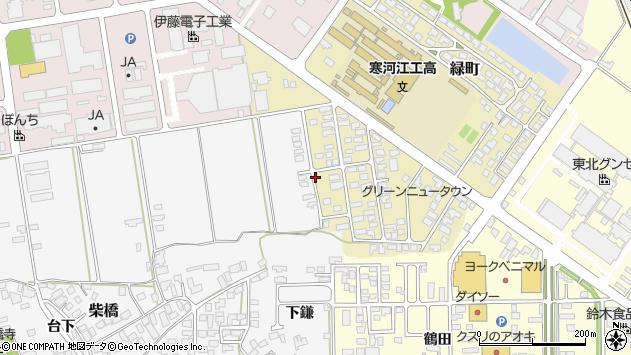 山形県寒河江市緑町32周辺の地図