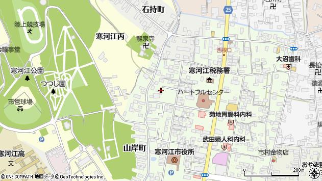 山形県寒河江市山岸町9周辺の地図