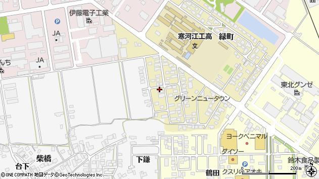 山形県寒河江市緑町53周辺の地図