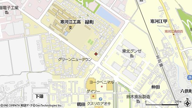 山形県寒河江市緑町180周辺の地図