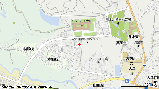 山形県西村山郡大江町左沢3069周辺の地図