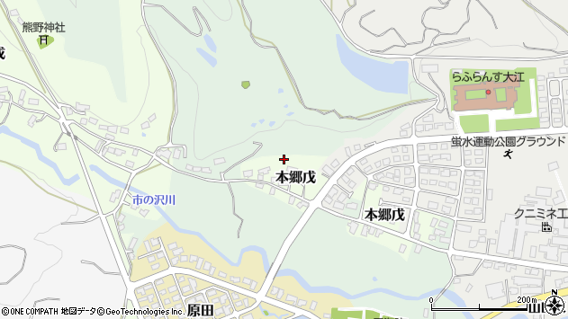 山形県西村山郡大江町本郷戊市ノ沢周辺の地図