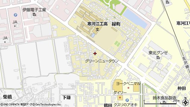 山形県寒河江市緑町108周辺の地図
