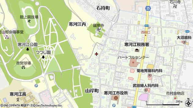 山形県寒河江市山岸町7周辺の地図