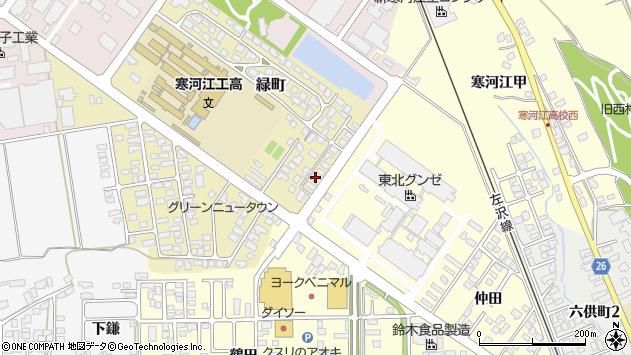 山形県寒河江市緑町170周辺の地図