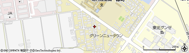 山形県寒河江市緑町87周辺の地図