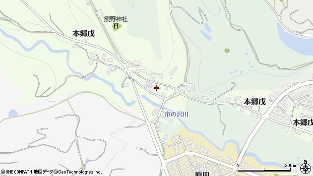 山形県西村山郡大江町本郷戊74周辺の地図