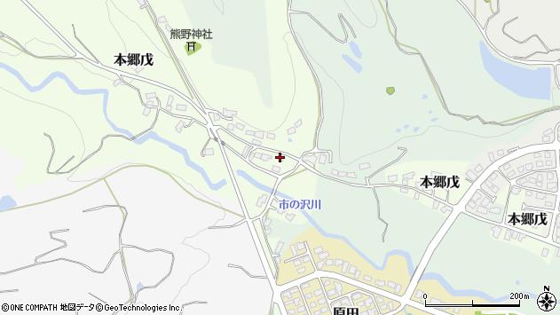 山形県西村山郡大江町本郷戊52周辺の地図