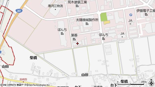 山形県寒河江市中央工業団地15周辺の地図