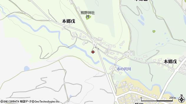 山形県西村山郡大江町本郷戊72周辺の地図