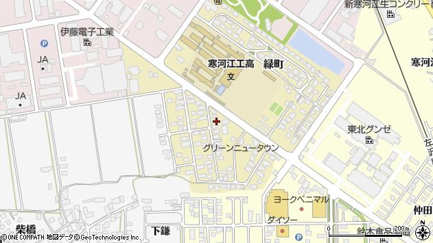 山形県寒河江市緑町86周辺の地図