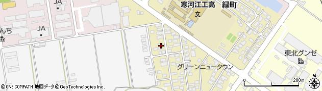 山形県寒河江市緑町42周辺の地図