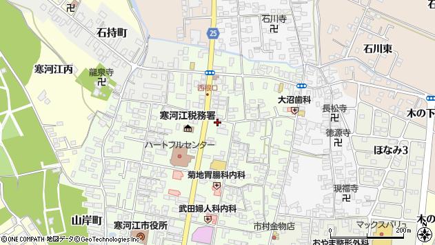 山形県寒河江市中央2丁目周辺の地図