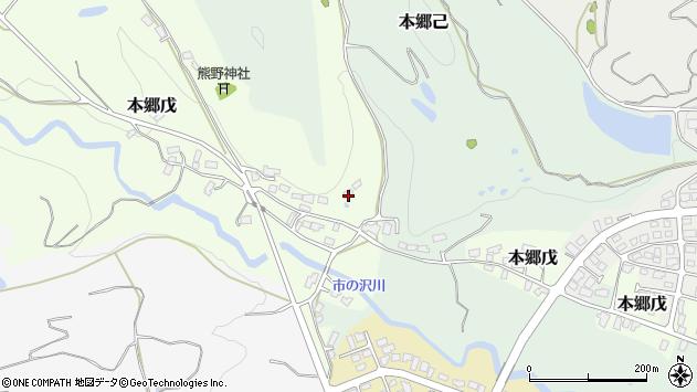 山形県西村山郡大江町本郷戊48周辺の地図