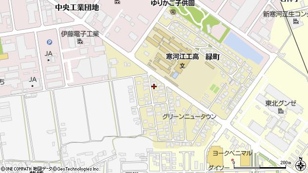 山形県寒河江市緑町49周辺の地図