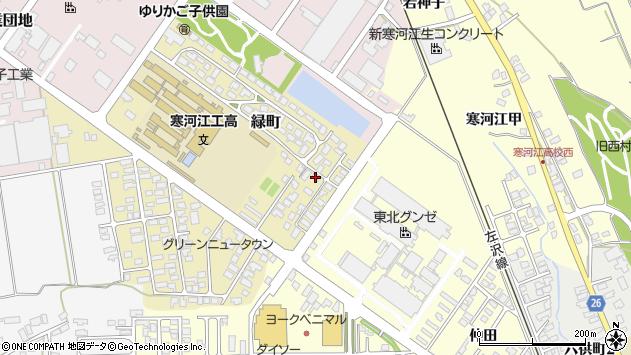 山形県寒河江市緑町174周辺の地図