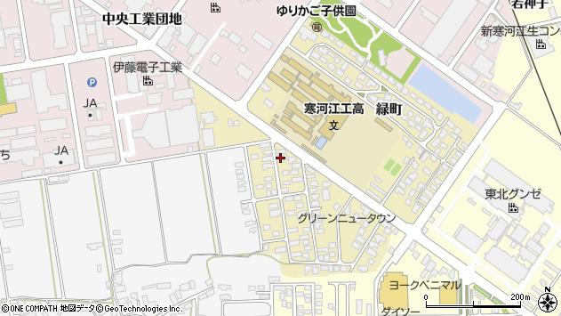 山形県寒河江市緑町48周辺の地図
