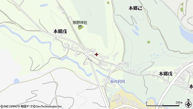山形県西村山郡大江町本郷戊64周辺の地図