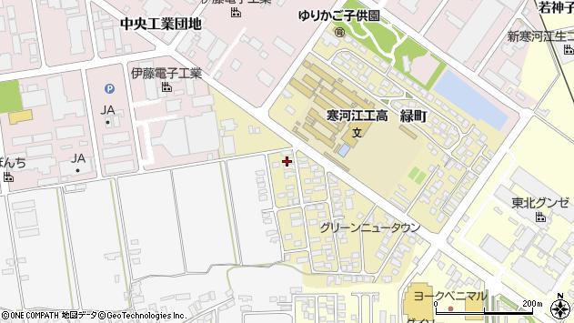 山形県寒河江市緑町38周辺の地図