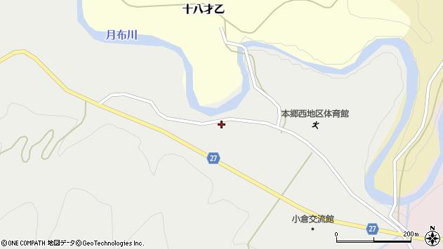 山形県西村山郡大江町十八才甲154周辺の地図