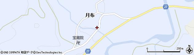 山形県西村山郡大江町月布周辺の地図