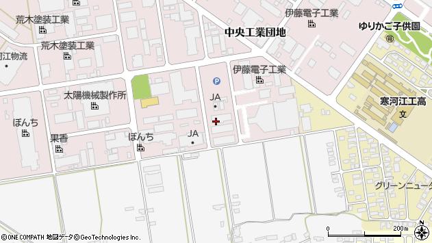 山形県寒河江市中央工業団地75周辺の地図