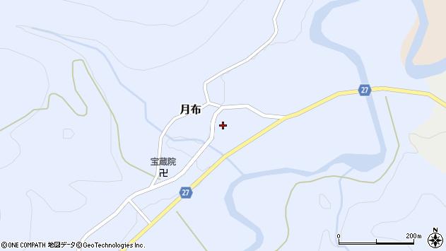 山形県西村山郡大江町月布120周辺の地図
