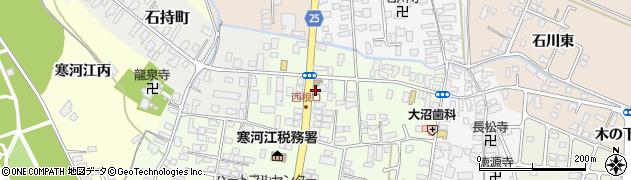 山形県寒河江市中央周辺の地図