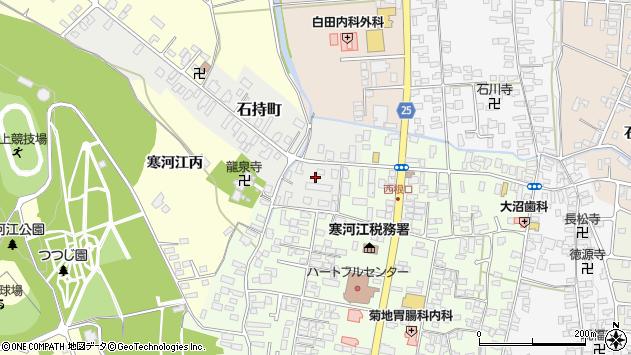 山形県寒河江市石持町1周辺の地図