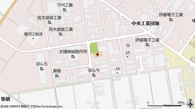 山形県寒河江市中央工業団地46周辺の地図
