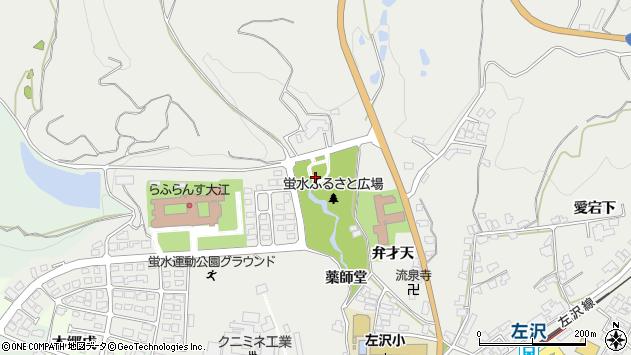山形県西村山郡大江町左沢堂ケ原周辺の地図