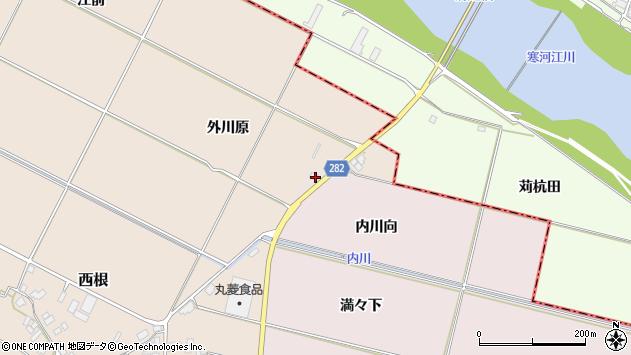 山形県寒河江市日田内川向周辺の地図