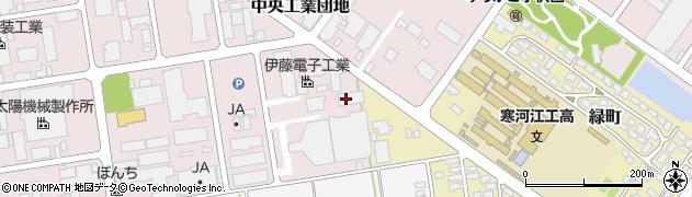 山形県寒河江市中央工業団地123周辺の地図