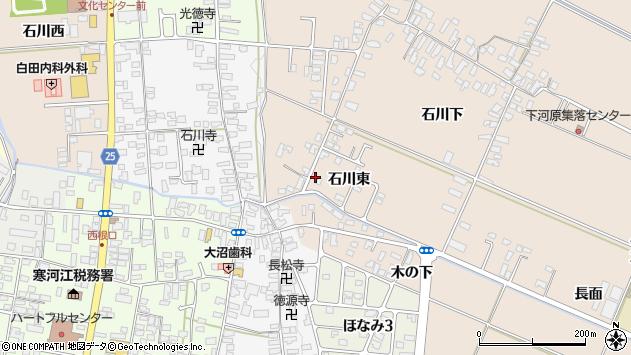 山形県寒河江市西根石川東53周辺の地図