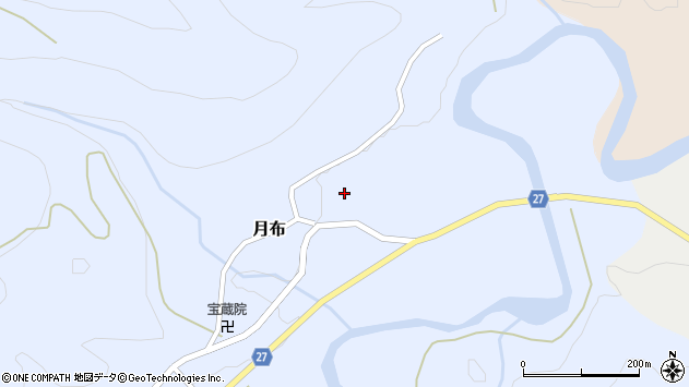 山形県西村山郡大江町月布145周辺の地図