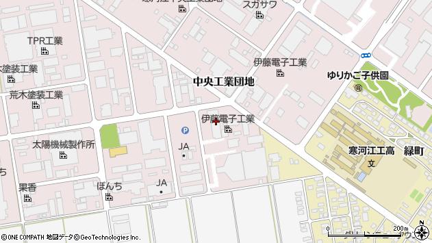 山形県寒河江市中央工業団地82周辺の地図