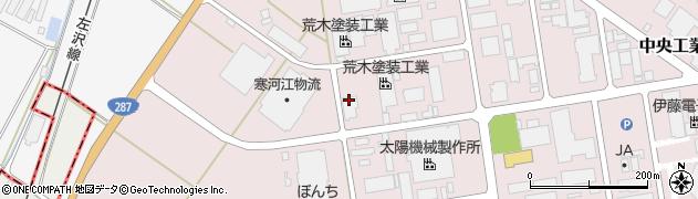 山形県寒河江市中央工業団地5周辺の地図