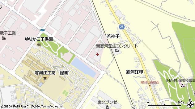 山形県寒河江市中央工業団地151周辺の地図
