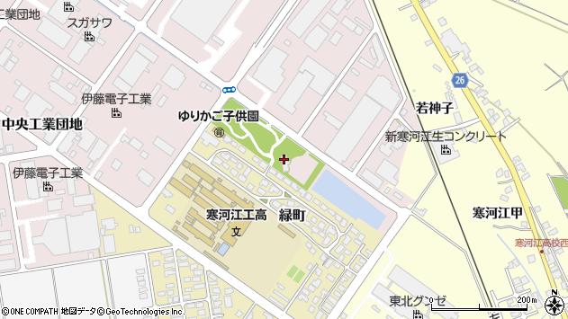 山形県寒河江市中央工業団地153周辺の地図
