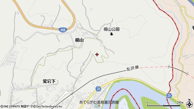 山形県西村山郡大江町左沢楯山周辺の地図