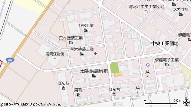 山形県寒河江市中央工業団地8周辺の地図