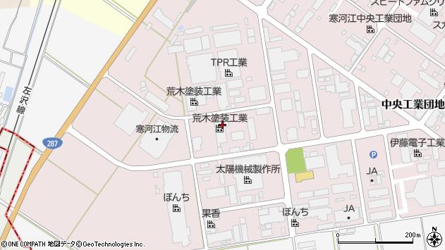 山形県寒河江市中央工業団地6周辺の地図