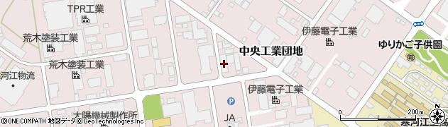 山形県寒河江市中央工業団地66周辺の地図